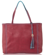 Big Buddha Eden Shoppers Tote - Wine
