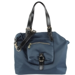 Steve Madden Nylon Shoppers Tote - Navy