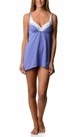Bottoms Out Women's Lace Chemise Nightie - Light Purple
