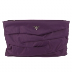 Prada BP0199 Ruched Nylon large Pouch - Purple