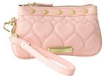 Betsey Johnson Be Mine Wristlet -Blush