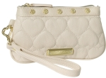 Betsey Johnson Be Mine Wristlet - Bone