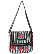 Betsey Johnson Blooming Springs Flap Crossbody Bag  - Black
