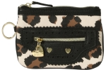 Betsey Johnson Biker Betsey Top Zip Wristlet - Cheeta