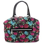 Betsey Johnson Painted Garden  Weekender Bag -Black