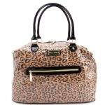 Betsey Johnson Spotted  Weekender Bag -Natural