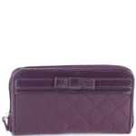 Christian Audigier Stella Zip Around Wallet - Purple