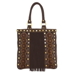 Christian Audigier Musha Handle Tote - Brown