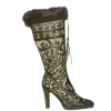 Cochni Tall Dress Boots for Women - Coffee