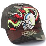 Ed Hardy Basic Dragon Skull Embroidered Mesh Cap-Camo