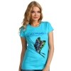 Ed Hardy Womens Basic Butterfly Tunic-Turquise
