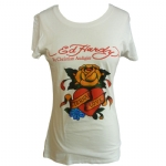 Ed Hardy Womens Basic Eternal Love Tunic- Off White