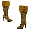 Cochni Tall Dress Boots  for Women - Leopard