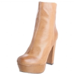 Steve Madden Desirred Leather Boots -Bone