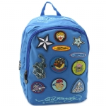 Ed Hardy Maya Patches  Backpack- Violet Blue