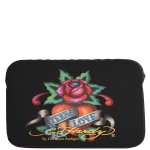 Ed Hardy Eternal Love Bill Laptop Sleeve  - Black