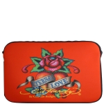 Ed Hardy Eternal Love Bill Laptop Sleeve  - Red