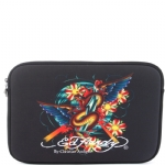 Ed Hardy Snake Bill Laptop Sleeve - Black