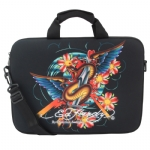 Ed Hardy Gates Cobra Laptop Bag -  Black