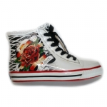 Ed Hardy Harrison Rain Shoe For Women- White