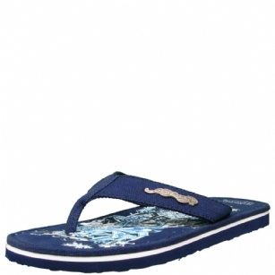 Ed Hardy Miami Surf Flip Flop for Men - Navy - This cool flip flop from Ed Hardy will take you all the way through the casual days of the warm-weather season. The Miami features an edgy logoed upper to catch the eye, while its comfortable footbed�designed with�tattoo-inspired graphics.