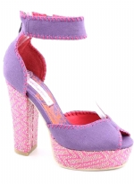 Ed Hardy Cindy Heel Shoe - Purple/Pink