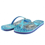 Ed Hardy Jungle  Flip Flop for Women -Turquoise