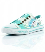 Ed Hardy Lowrise Stone Sneaker for Women - Turquoise