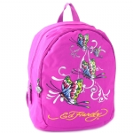 Ed Hardy Misha Butterfly Glitter Backpack- Violet Purple