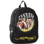 Ed Hardy Misha Racing Dog Backpack- Black