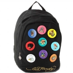Ed Hardy Josh Metal Pins Backpack - Black