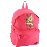Ed Hardy Shane Flower Heart Backpack-Hot Pink