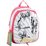 Ed Hardy Caroline Interchangable Coloring Panels Backpack- Hot Pink