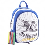 Ed Hardy Caroline Interchangable Coloring Panels Backpack- Royal Blue