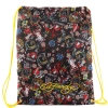 Ed Hardy Drew Drawstring All Over Collage  Bag - Black