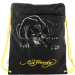 Ed Hardy Drew Drawstring Panther  Bag - Black