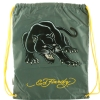 Ed Hardy Drew Drawstring Panther  Bag - Asphalt Grey