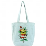 Ed Hardy Ness Flower HeartTote- Light Denim