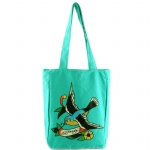 Ed Hardy Ness Spring Sparrow Tote- Turquoise