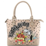 Ed Hardy  Let It Ride Paula Large Tote - Beige
