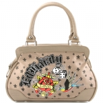 Ed Hardy  Let It Ride Hattie Satchel Bag - Beige