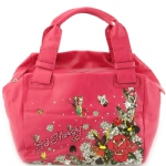 Ed Hardy Garden Party Niki Satchel - Pink