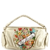 Ed Hardy Sienna Flowers Shoulder Bag- Off White