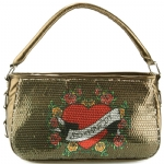 Ed Hardy Fluer Delight Agnes Shoulder Bag -Green