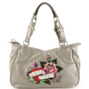 Ed Hardy Charlotte Eternal Love Tote Bag - Silver