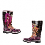 Ed Hardy Seattle Boots for Kids - Black