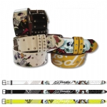 Ed Hardy EH3240 Roses Skull & Studs Kids-Girls Leather Belt