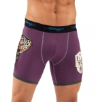 Ed Hardy Panther Combat Patch Boxer Brief - Purple