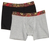 Ed Hardy Men's Open Mouth Tiger 2 Pack Boxer Brief