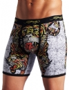 Ed Hardy Men's Tiger Collage Premium Boxer Brief - Black